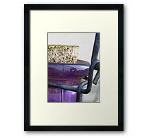 glass, metal, cork Framed Print