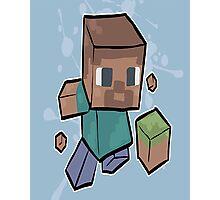 Minecraft Cartoon Photographic Print