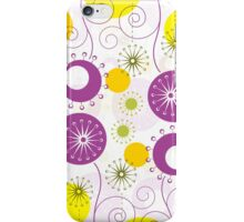 Cute Colorful Abstract Flowers iPhone Case/Skin