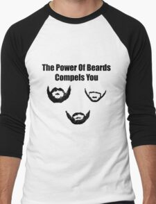 the power of beards Men's Baseball ¾ T-Shirt