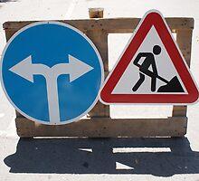Roadworks and Detour by vladromensky