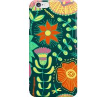 Colorful Retro Flowers And Birds Pattern iPhone Case/Skin
