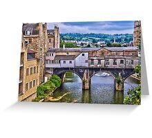 Bath, Pulteney Bridge Greeting Card