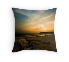 An evening at the beach Throw Pillow