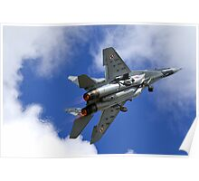 Polish Air Force Mikoyan Gurevich MiG 29A Fulcrum A, Red 111 Poster