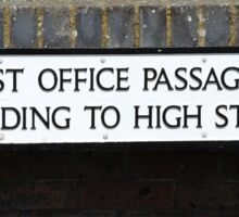 Post Office Passage sign, Hastings Sticker
