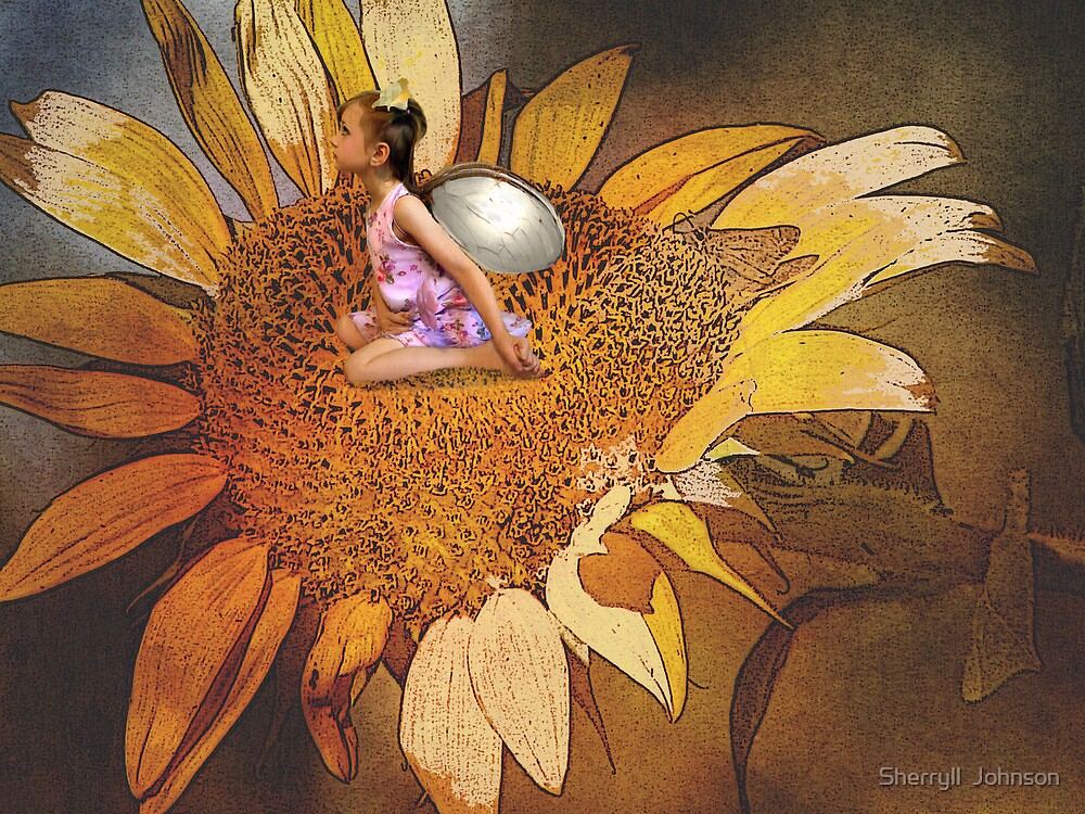 Sunflower Fairy by Sherryll  Johnson