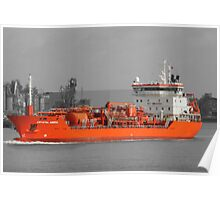 CRYSTAL AMBRA TANKER Selective colour Poster