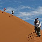 The ascent of Sossusvlei by jmccabephoto