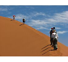 The ascent of Sossusvlei Photographic Print