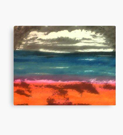 Seascape in progress, watercolor Canvas Print