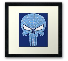 SpiderPunisher in Blue Framed Print