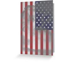 Old USA Flag Greeting Card