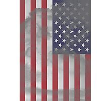 Old USA Flag Photographic Print