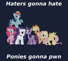 Haters gonna hate, Ponies gonna pwn by Obler