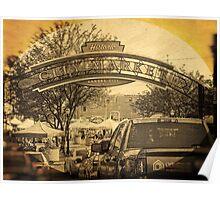 Kansas City River Market, City Market, Farmer's Market, Vintage Style Poster