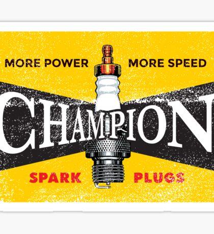 Vintage Spark Plug Sticker