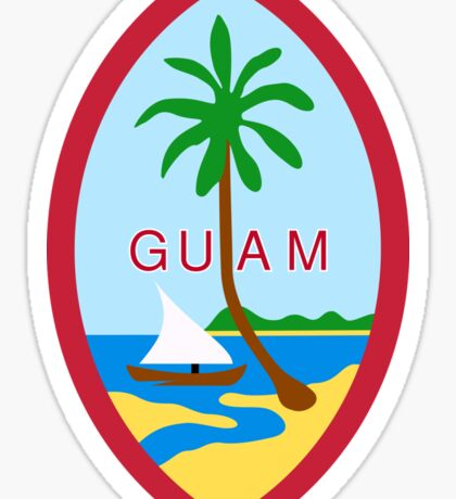 Guam State Seal Sticker Sticker