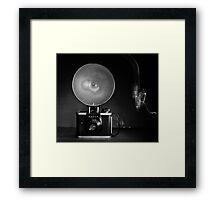 Flash Bulb and an Ansco Camera   Framed Print