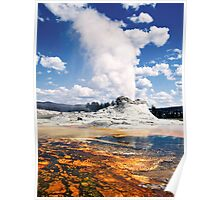 Castle Geyser - Yellowstone National Park Poster