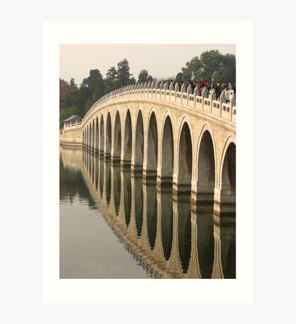Seventeen Arch bridge Art Print