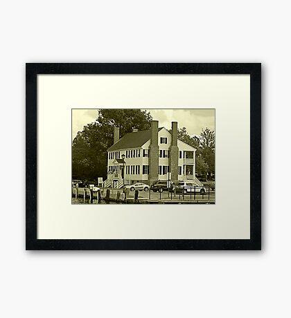 Historic Barker House Framed Print