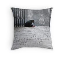 Begging for alms, Italy Throw Pillow