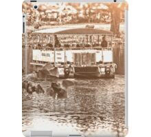 Ferry on the River, Kansas City Zoo, Monochrome iPad Case/Skin
