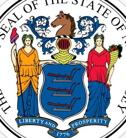 New Jersey State Seal Sticker Sticker