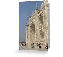 Taj Mahal and visitors Greeting Card