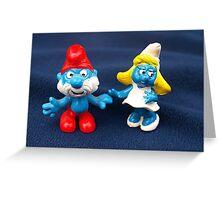 Papa Smurf & Smurfette Greeting Card