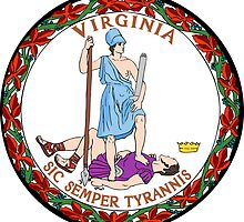 Virginia State Seal Sticker by ukedward