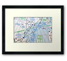 Air navigation chart. Framed Print