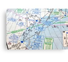 Air navigation chart. Canvas Print