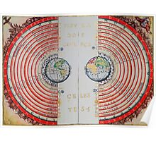 Ptolemaic geocentric conception of the Universe Poster