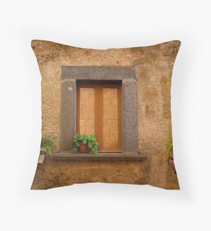 Etruscan Window, Italy Throw Pillow