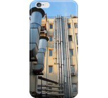 Back of the multistorey office building iPhone Case/Skin