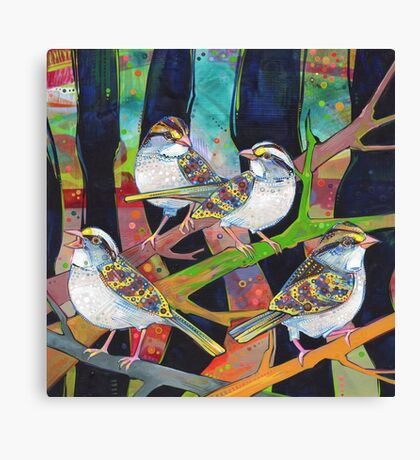 White-throated sparrows painting - 2012 Canvas Print