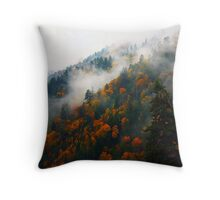 AUTUMN MIST RISING Throw Pillow
