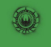 Battlestar Galactica Grunge - Blue line Kids Clothes