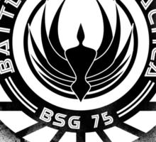 Battlestar Galactica Grunge - Blue line Sticker