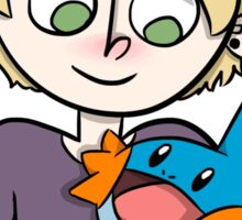 Mike and mudkip Sticker