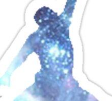 Michal Jordan logo in Galaxy  Sticker
