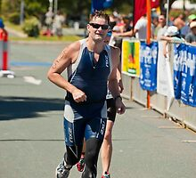 Kingscliff Triathlon 2011 finish line B6507 by Gavin Lardner