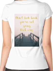 Beachy inspirational, motivational quote, text art. Women's Fitted Scoop T-Shirt