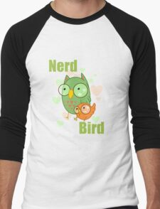 Nerd Bird Men's Baseball ¾ T-Shirt