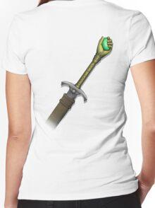 Hawk the Slayer (Mind Sword Back) Women's Fitted V-Neck T-Shirt
