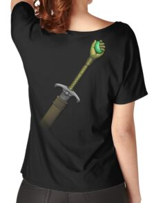 Hawk the Slayer (Mind Sword Back) Women's Relaxed Fit T-Shirt