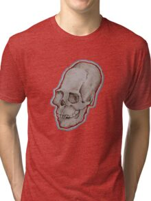 Elongated skull portrait Tri-blend T-Shirt