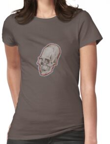 Elongated skull small Womens Fitted T-Shirt